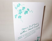Floral Bloom Letterpress Wedding Invitation Suite Sample