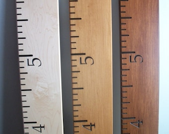 Maple Wood Ruler Growth Chart - Engraved, Personalizing Available