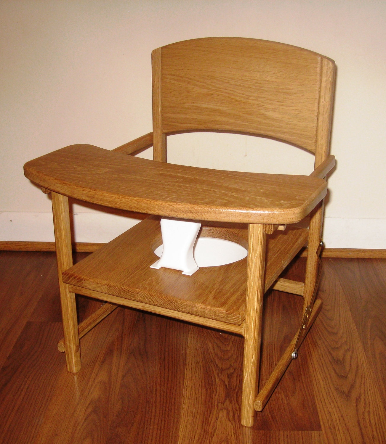 Folding Commode Chair Toddler Folding Potty Chair with Tray by dgwood on Etsy