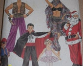 Simplicity 9892 Costume Pattern Santa Clause Dracula Pirate Ballerina Genie Harem Size (S-M-LG) S9892