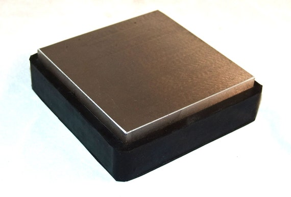 Large 4 Inch Rubber And Steel Bench Block