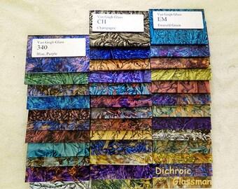 VAN GOGH Premium Glass Sampler Mosaic Glass Tiles 37 samples