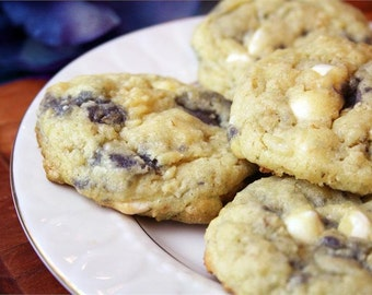 Cookies, Blueberry White chocolate cookies, 2 dozen, Made to order, Blueberry cookies, Cookie,White Chocolate cookie