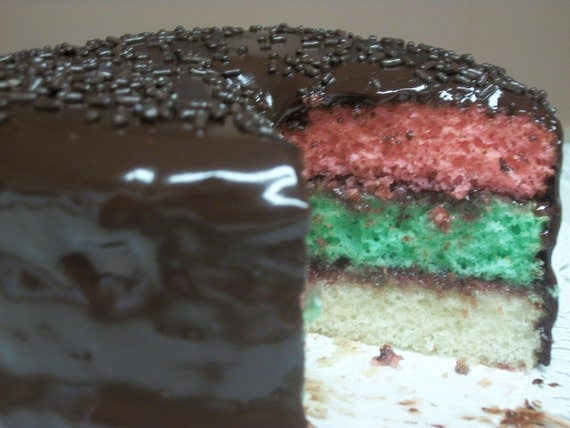 Rainbow Cake Recipe Italian: Italian Rainbow Cake 6 In. By AmedeosBakery On Etsy