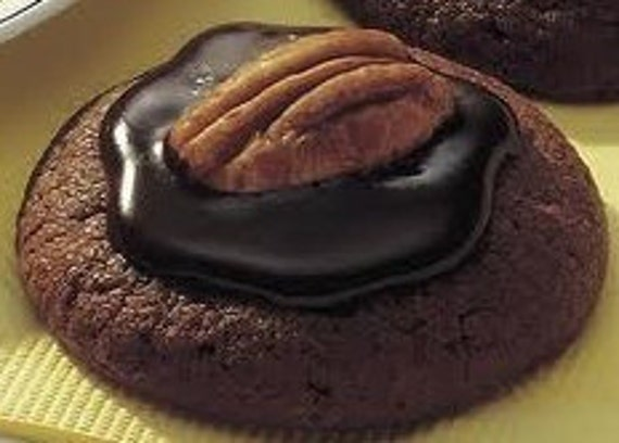 Chocolate, Double Chocolate Pecan Cookie 2 Dz PLatter, Dark Chocolate Pecan Chocolate Cookie