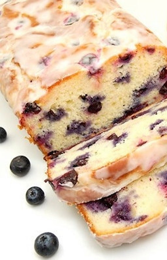 Fathers  Day Blueberry Lemon Loaf , 9 inch over 1 LB Blueberry Loaf with lemon, and iced Lemon Icing, Birthday gift