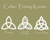 Celtic Trinity Knot Car Decal / Vinyl Sticker - You Choose Design