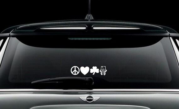 """Irish Dance Decal- """"Peace, Love, Irish, Dance"""" Decal / Sticker"""