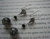 SALE was 47 Now 32 Mirror Mirror Sterling silver with faceted onyx and dragons vein agate earrings