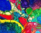 P33 - Colorful Chromatic Postcard