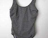Black and White Polka Dot Swimsuit