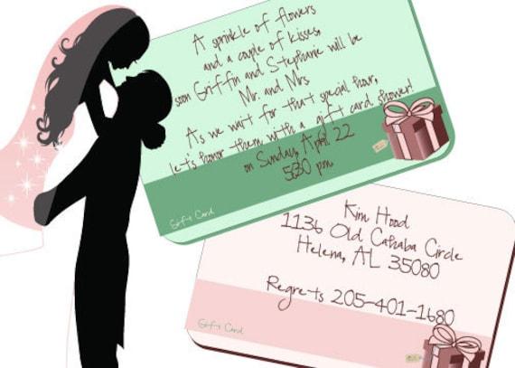 Wedding Gift Wording Ideas: Items Similar To Custom Wedding