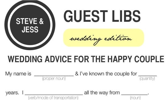 50 Fun Wedding Guest Libs