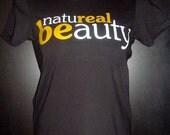 Natureal Beauty (Crew Neck) - Black - Large