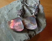 Iridescent drop, shell earrings - FREE shipping in the U.S.