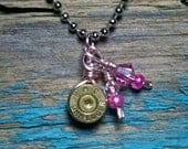 9mm bullet with pink charms