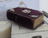 Early 19th Century Purple Velvet German Prayer Book