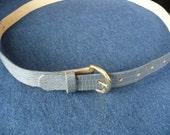 35% OFF- Coupon SAVE35NOW -Faux Alligator Vintage Belt  size 14