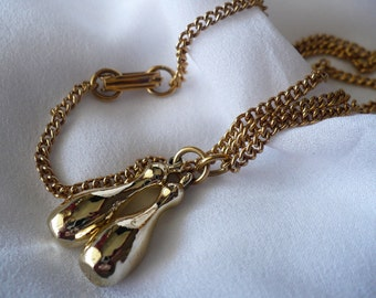 Vintage bowling pin necklace
