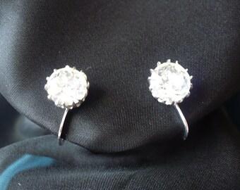 Solitaire CZ Vintage Earrings