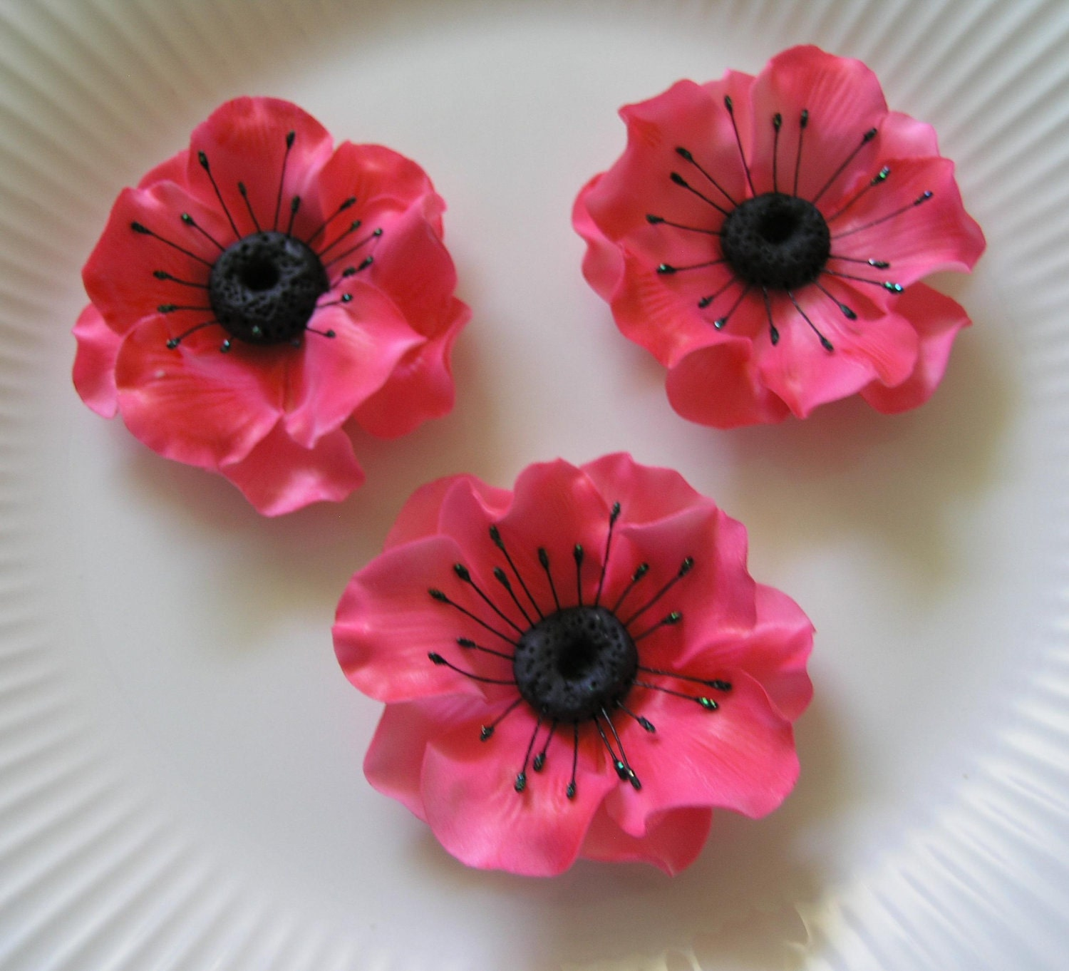 SPECIAL ORDER Gum Paste Anemones Flowers Cake and