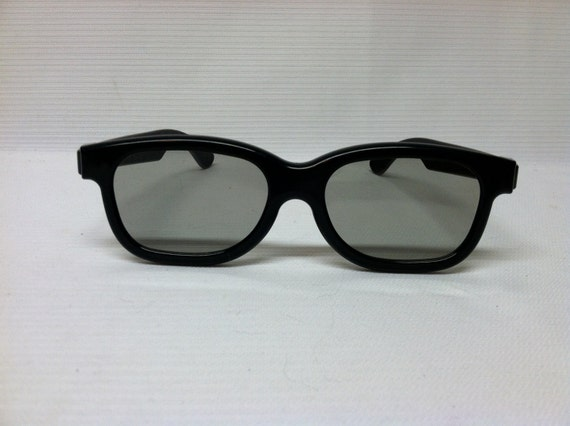 Black 3d glasses, Fake framed eye glasses, steampunk craft supplies, movie costume accessories