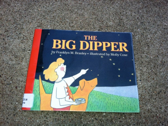 Big Dipper childrens book, Science night sky, north star, compass, childrens illustration