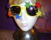 Multi Color Star Sunglasses