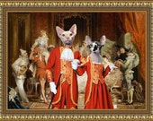 Sphynx Cat Fine Art Canvas Print - The Carnival