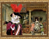 Cat Turkish Angora or Turkish Van Fine Art Canvas Print