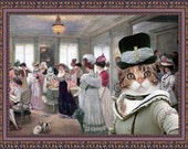 Calico Cat American Shorthair Fine Art Canvas Print - The Hat Salon