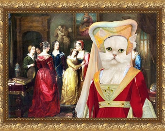Persian Cat Fine Art Canvas Print -  The separation