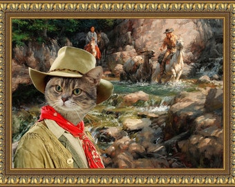 Tabby Cat American Shorthair Fine Art Canvas Print - The Golden Rush