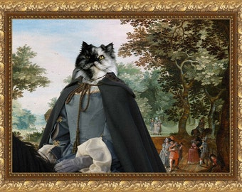 Persian Cat Fine Art Canvas Print - Passage and Horse Lady