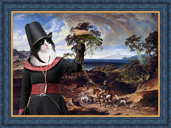 Tuxedo Cat Fine Art Canvas Print