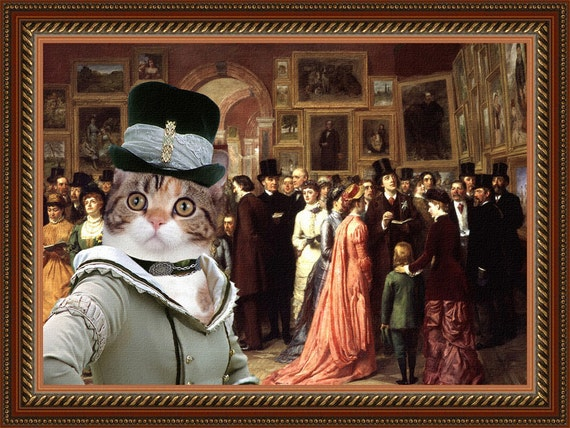 Calico Cat American Shorthair Fine Art Canvas Print -  A Private View