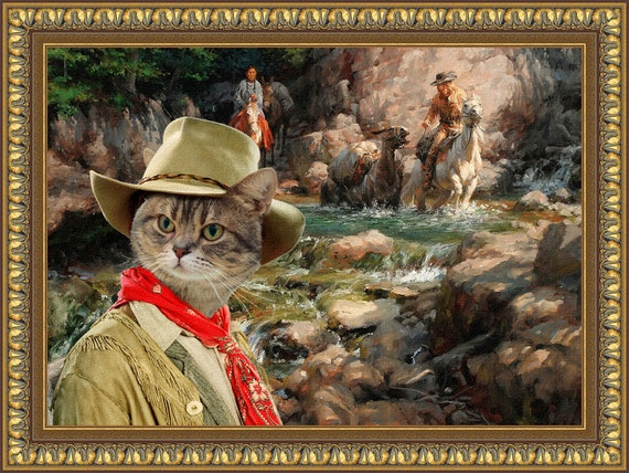 Tabby Cat American Shorthair Fine Art Canvas Print - The Golden Rush