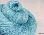 """SALE - Handpainted lace yarn  - Cassiopeia """"The Uranian Tilt"""" - merino wool / silk lace weight"""