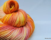 "Handpainted sock yarn - Skyward ""Corona"" 80/20 Merino Nylon fingering weight"