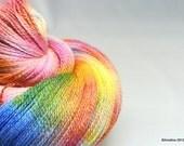 "Handpainted lace yarn  - Cassiopeia ""Cygnus the Swan"" - merino wool / silk lace weight"