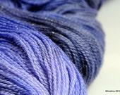 """Handpainted lace yarn  - Starfield Lace  """"Reflection"""" - merino wool / silk / stellina lace weight"""
