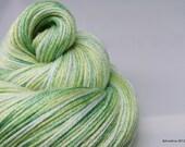"Handpainted yarn - Interstellar Sock ""Supersonic"" - 50/50 Merino wool / silk fingering weight"