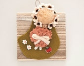 OOAK children angel's picture with recycled materials