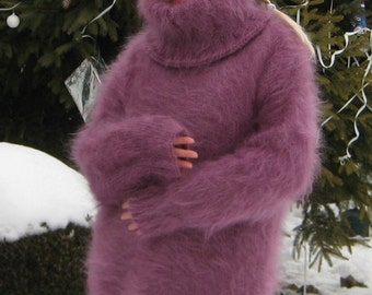 Very fluffy hand knitted mohair sweater by Supertanya