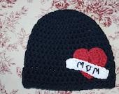 Mom 'tattoo' baby boy beanie hat