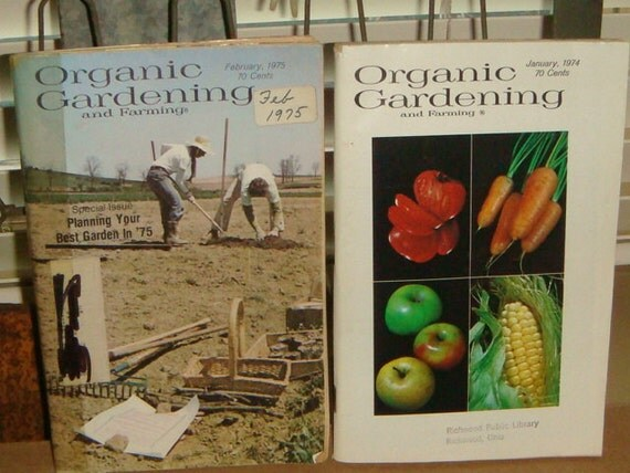 70's Organic Gardening & Farming Magazines Books Garden Seeds Vegetables Perennials Info