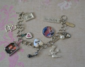 CUSTOM Memento Photo Charm Bracelet, Made to Order, Mourning Jewelry, Sentimental gift