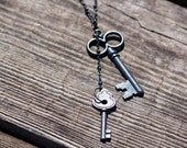 Black Metal Key Necklace
