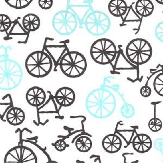 2 yards of Michael Miller's Bicycles Fabric in Hazel