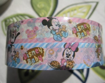 Set of 2 Baby Disney Design Japanese Deco Tapes